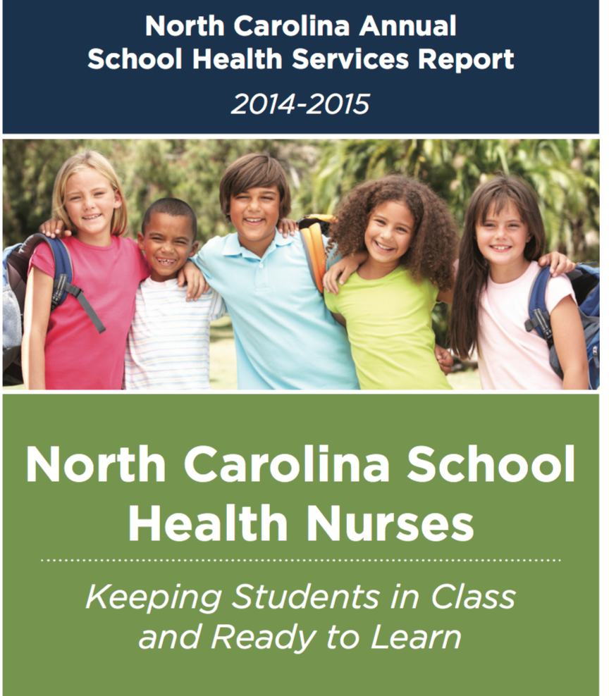 North Carolina School Health Services Report 2014-2015 cover