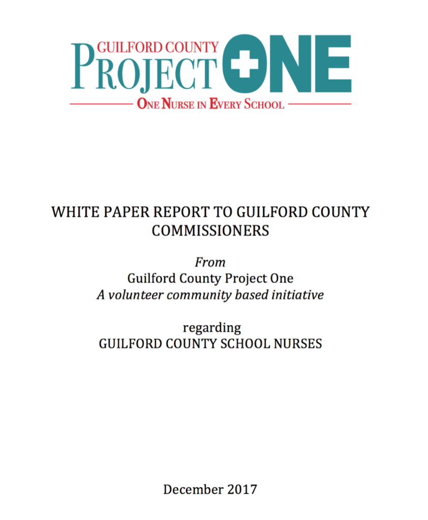 White Paper Report to Guilford County Commissioners cover