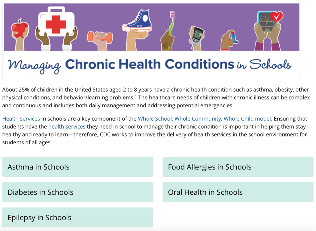 Managing Chronic Health Conditions in Schools cover