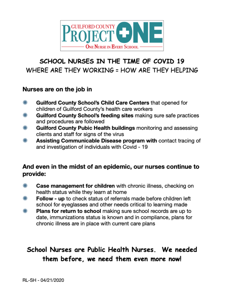 Fact Sheet-School Nurses and COVID cover